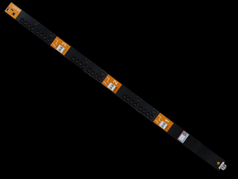 SmartPDU 40HE, schaltbar, Einzelmessung mit 24/C13-6/C19 (IEC60320), 3-phasig 32A mit RCM