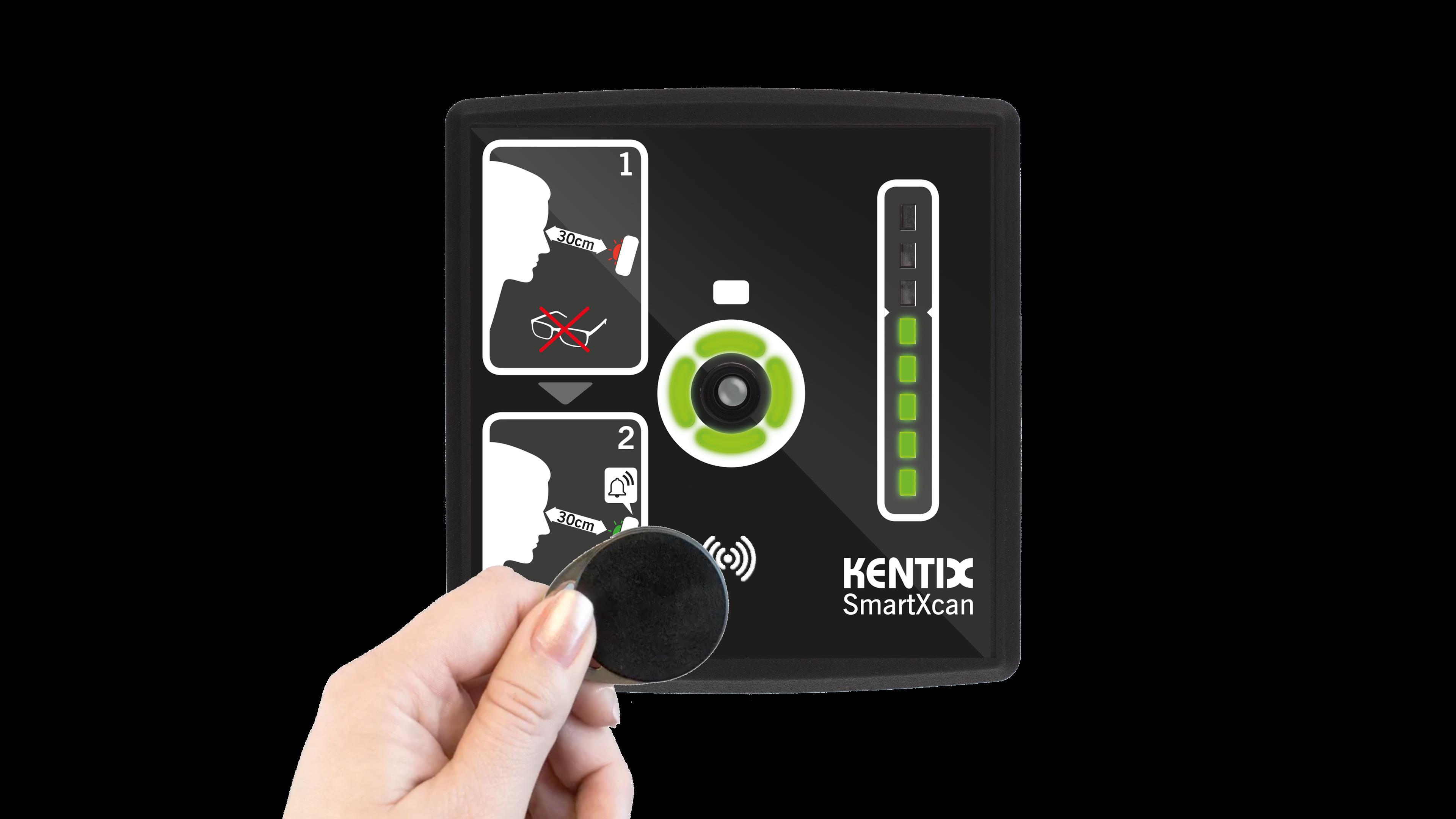 SmartXcan MultiSensor for body temperature measurement with LAN (PoE), black