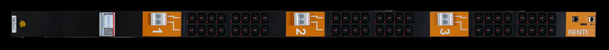 SmartPDU 40HE mit 48/C13-0/C19 (IEC60320), 1-phasig 32A mit RCM