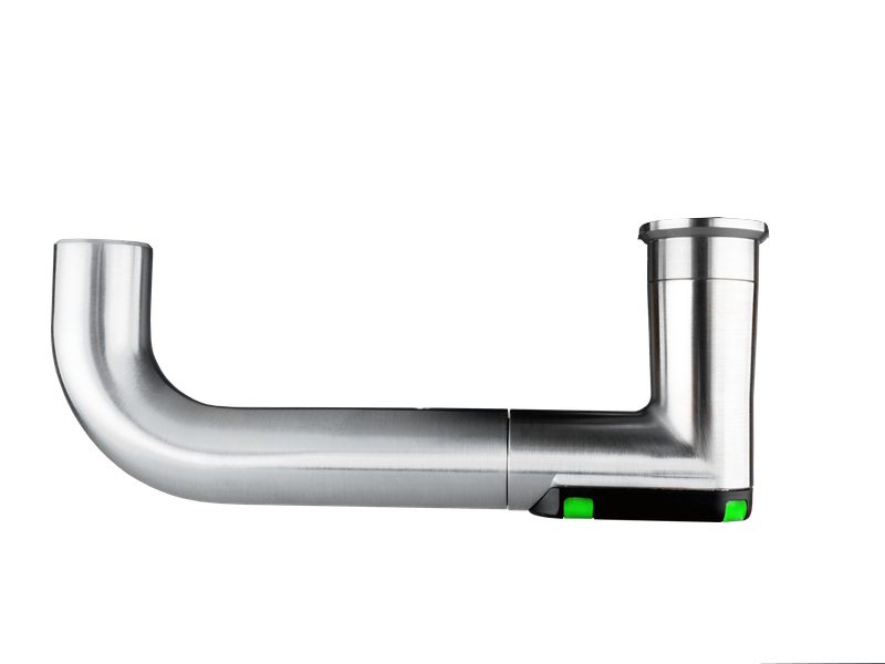 DoorLock-LE Türbeschlag (MIFARE® DESFire®) breit mit Lochung, U-Form abgerundet, IP55, LINKS