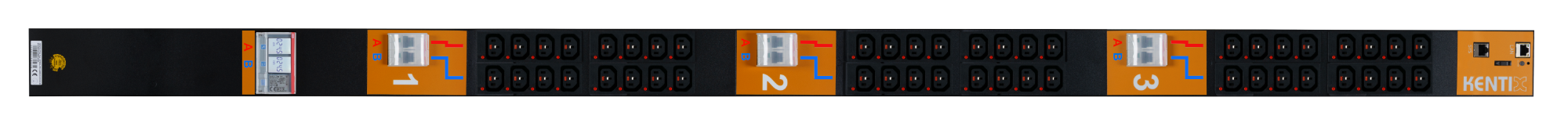 Dual SmartPDU 40HE mit 2x 24/C13 (IEC60320), 32A (A+B) mit RCM
