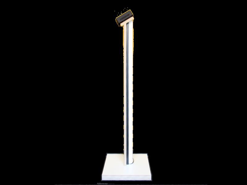 Stele für SmartXcan KMS-TI-FS in Holzausführung weiss