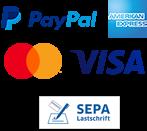 PayPal - Kreditkarte - Lastschrift