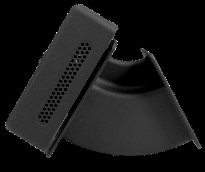 SmartXcan MultiSensor zur Körpertemperaturmessung mit LAN (PoE) und RFID, schwarz