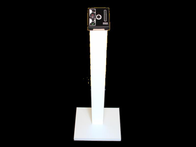 Pedestal for SmartXcan KMS-TI-FS in wood white