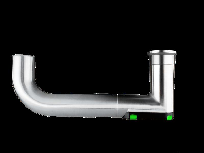 DoorLock-LE Türbeschlag (MIFARE® DESFire®) breit mit Lochung, U-Form abgerundet, IP66, LINKS